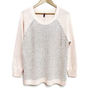 NWT NYDJ Pixie Pink Silver Shimmer Sequin Sweater